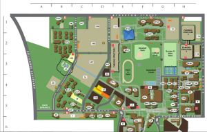 Map of CSULB with the Japanese Garden circled in black.